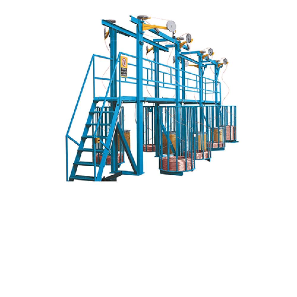 AUF / AUS - Drahtabläufe für Mehrdrahtziehmaschinen